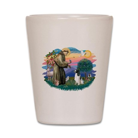 St Francis #2/ Eng Spring Shot Glass