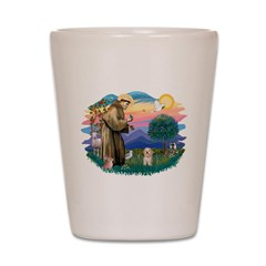 St.Fran. #2/ Havanese pup Shot Glass