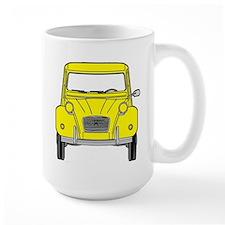 Citroen 2CV front yellow Mugs