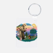 St Francis #2/ Welsh Ter. Keychains
