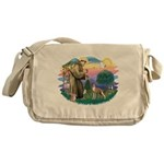 St Francis #2/ Whippet #12 Messenger Bag