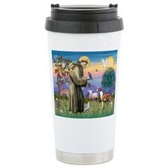 St Francis / Whippet Travel Mug