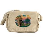 St Francis #2/ Whippet #7 Messenger Bag