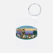 St Francis / dogs-cats Keychains
