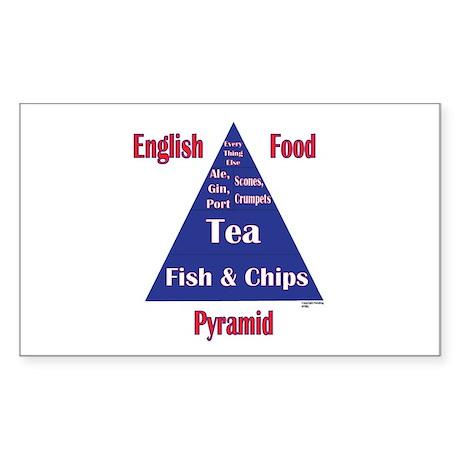 English Food Pyramid Sticker (Rectangle 50 pk)