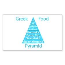 Greek Food Pyramid Decal