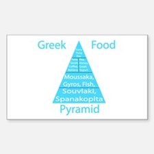Greek Food Pyramid Decal