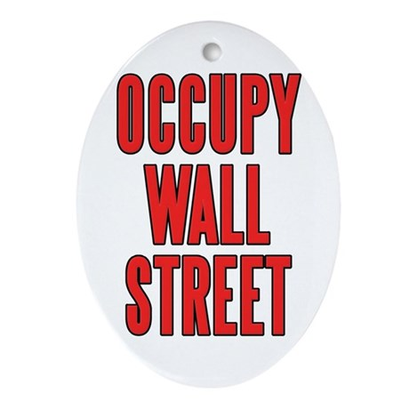 Occupy Wall Street Ornament (Oval)