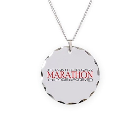 Marathon - Pride is Forever Necklace Circle Charm