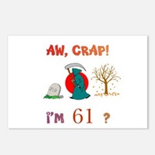 AW, CRAP! I'M 61? Gift Postcards (Package of 8)