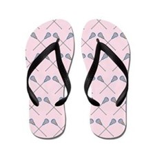 Lacrosse Player Girls Flip Flops