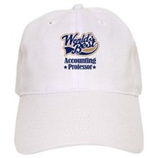Accounting Professor Gift (Worlds Best) Baseball Cap