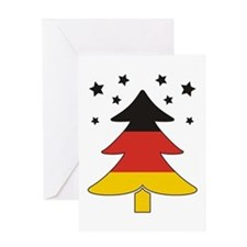 german Flag Christmas Tree Greeting Card