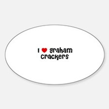 I * Graham Crackers Oval Decal