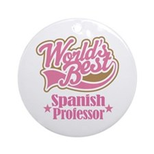 Spanish Professor Gift Ornament (Round)