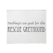 NTG-rescue Greyhound Throw Blanket
