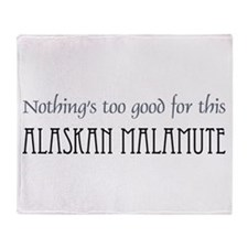 NTG-Alaskan Malamute Throw Blanket