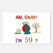 AW, CRAP! I'M 59? Gift Postcards (Package of 8)