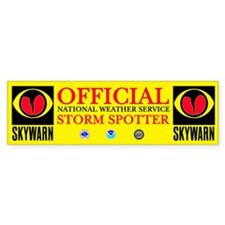 OFFICIAL NWS STORM SPOTTER - (BUMPER STICKER)