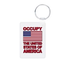 Occupy The United States of America Keychains