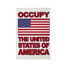 Occupy The United States of America Rectangle Magn