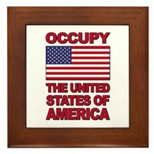 Occupy The United States of America Framed Tile