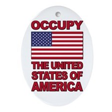 Occupy The United States of America Ornament (Oval
