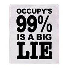 Occupy's 99% is a Big Lie Throw Blanket