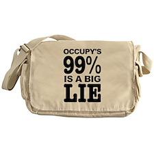 Occupy's 99% is a Big Lie Messenger Bag