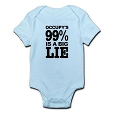 Occupy's 99% is a Big Lie Infant Bodysuit