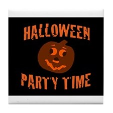 Halloween Party Time Tile Coaster