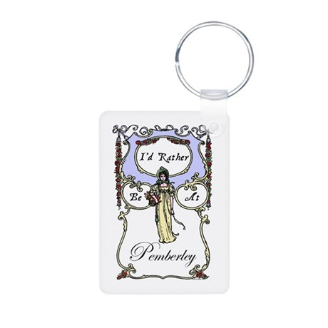 Jane Austen Gift Aluminum Photo Keychain