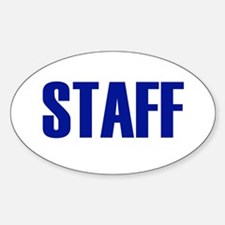 Staff Oval Decal
