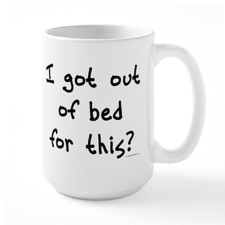 Out of Bed Large Mug