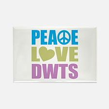 Peace Love DWTS Rectangle Magnet