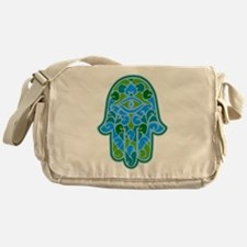 Artsy Hamsa Messenger Bag