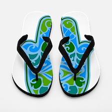 Artsy Hamsa Flip Flops