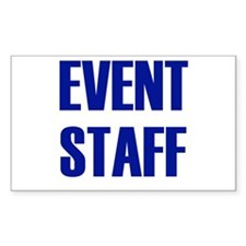 Event Staff Rectangle Decal