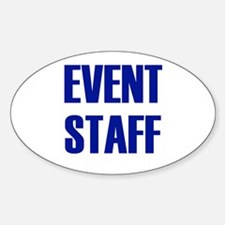 Event Staff Oval Decal