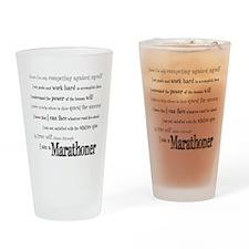 I Am a Marathoner Drinking Glass