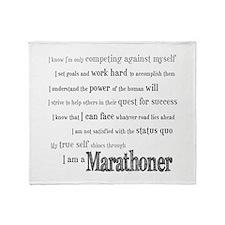 I Am a Marathoner Throw Blanket