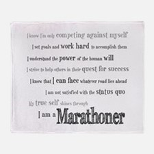 I Am a Marathoner Throw Blanket