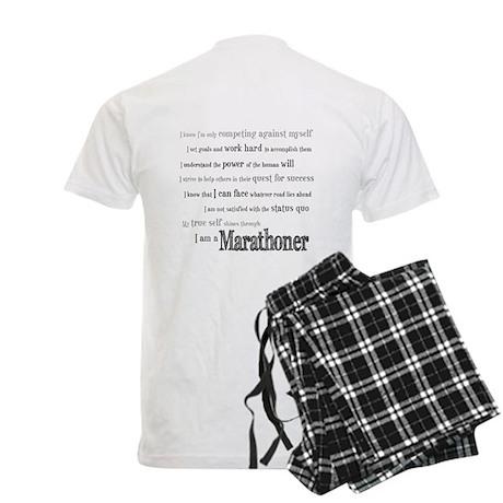 I Am a Marathoner Men's Light Pajamas