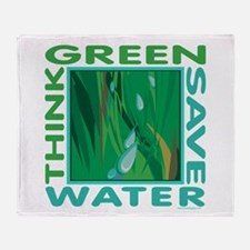 Water Conservation Throw Blanket