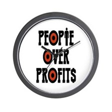 People Over Profits Wall Clock