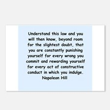 Napolean Hill quotes Postcards (Package of 8)