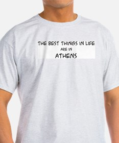 Best Things in Life: Athens Ash Grey T-Shirt