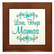 Love Hugs Mamas Framed Tile