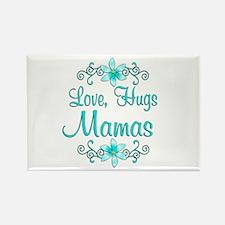 Love Hugs Mamas Rectangle Magnet