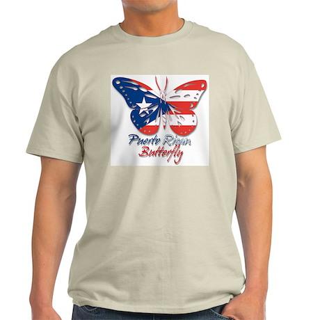 Puerto Rican Butterfly Ash Grey T-Shirt